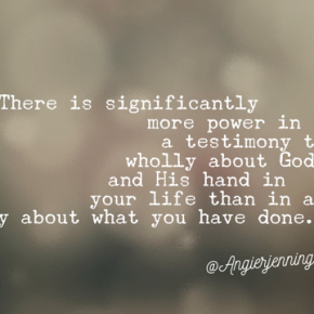 Stop Telling What God Has Done ThroughYou